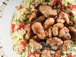 Сувлаки / шишчета със свинско месо от врат печено на скара - снимка на рецептата